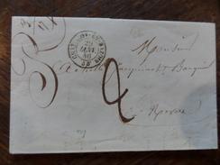 30.12.17-(2)-LAC De  Chatillon-en-bazois De Janv 1846,taxe Tampon - Postmark Collection (Covers)