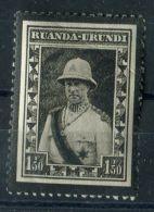 RUANDA-URINDI ( POSTE ) : Y&T N°  107  TIMBRE  NEUF  AVEC  TRACE  DE  CHARNIERE , VOIR . - 1924-44: Mint/hinged