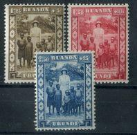 RUANDA-URINDI ( POSTE ) : Y&T N°  108/110  TIMBRES  NEUFS  AVEC  TRACE  DE  CHARNIERE , VOIR . - 1924-44: Mint/hinged