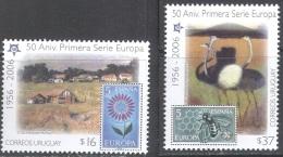 1887 ✅ Europa CEPT Art Painting Birds Bees Stamp On Stamp 2005 Uruguay 2v Set MNH ** 7ME - 2006