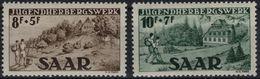 SARRE SAARGEBIET SAARLAND Poste 250 Et 251 * MLH Auberges De Jeunesse De Ludweiler Et De Weiskirchen - Unused Stamps