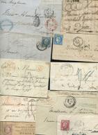 Lot Intéressant Et Varié De 100 Lettres  Entre 1751 Et 1900 (une De 1914), à Voir - Marcophilie (Lettres)