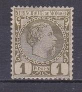 MONACO N°1 PRINCE CHARLES III 1 CENTIME OLIVE ** - Mónaco