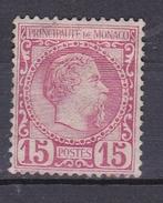 MONACO N°5  PRINCE CHARLES III 15 CENTIMES ROSE * - Monaco