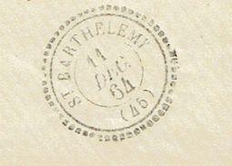 LOT ET GARONNE 47 SAINT BARTHELEMY Env Vide TAD 22 Du 11/12/1864 GC 3518 Sur N° 22 TTB - 1849-1876: Période Classique