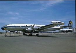 Aviation Postcard-489  Lufthansa  Lockheed L-1049 Constellation - 1946-....: Moderne