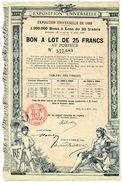 EXPOSITION UNIVERSELLE De 1889 - Bon à Lot - Tourisme