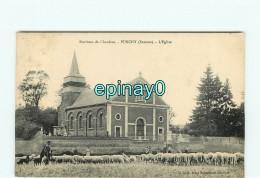 B - 80 - PUNCHY - église - Berger - Troupeau De Moutons - France