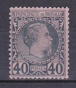 MONACO N°7  PRINCE CHARLES III 40 CENTIMES BLEU SUR ROSE  * - Monaco