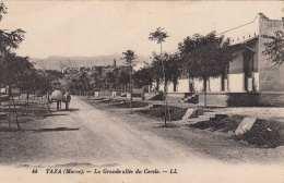 Marokko, TAZA (Maroe) - La Grande Allèe Du Cercle, Datiert 1912, Sehr Gute Erhaltung, Karte Beschrieben, Nicht Gelaufen - Marokko