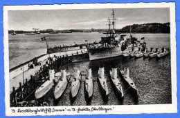 U-BOOT FLOTTE Und Begleitschiff, Karte Nicht Gelaufen Um 1935, Gute Erhaltung - Unterseeboote