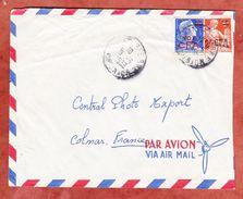 Luftpost, MiF Marianne, Saint-Pierre Nach Colmar 1959 (44783) - Storia Postale