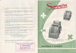 FONTENAY AUX ROSES G MANGEOT VENDEUR  MACHINE A CALCULER SUMMIRA PUBLICITE ANNEE 1955 - France
