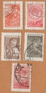 Mineur (5)  1956    ( Serie  5 Timbres ) - 1923-1991 USSR