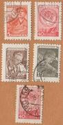 Mineur (5)  1956    ( Serie  5 Timbres ) - Oblitérés