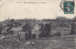 SOUSCEYRAC VUE GENERALE Circulée Timbrée 1911 Peu Courante - Sousceyrac