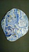 PLAQUE En Céramique Craquelée ATTENTION FOSSE SCEPTIQUE Décor Glaçure  - 2005 CMB - 20cmx20cm - 350g - Ceramics & Pottery