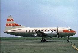 Aviation Postcard-503 NORTH JAPAN AIRLINES Convair 240 - 1946-....: Moderne