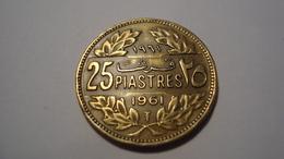 MONNAIE LIBAN 25 PIASTRES 1961 - Lebanon