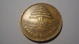 MONNAIE LIBAN 25 PIASTRES 1970 - Lebanon