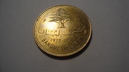 MONNAIE LIBAN 10 PIASTRES 1975 - Lebanon