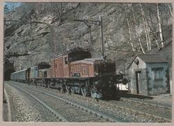 SBB CFF Elektro-Güterzuglokomotive Ce 6/8 Nr. 14255 + 14276 Am 22.3.1986 Bei Faido - Train - Railway - Bahn - Trains