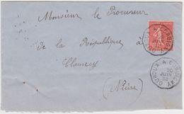 Nievre - Ambulant - Sncf -ouroux - Corbigny - Marcophilie (Lettres)