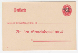 DR Dienstpostkarte DP B1 * - Alemania