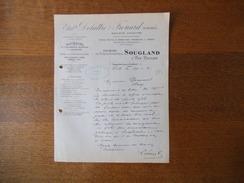 LILLE LIEVIN REPRESENTANT ETS DELATTRE & FROUARD DIVISION FORGES ET FONDERIES DE SOUGLAND 44 Av. DES LILAS COURRIER 1921 - France