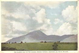 THE PILGRIMS WAY TO THE CLOUDS, CROAGH PATRICK, WESTPORT, CO. MAYO, IRELAND. Circa 1953 USED  POSTCARD Fg7 - Mayo
