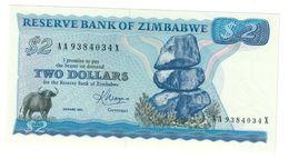 Zimbabwe 2 Dollars 1983 UNC - Zimbabwe