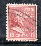 STATI UNITI 1938 , Presidenti Il 18 Cent Yvert N. 388 (Unificato N.611)  Usato . - Gebruikt