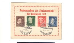GERMANIA BRD 1951 Benefattori 4 Francobolli Su Postkart  Bu.107 - [6] Repubblica Democratica