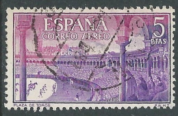 1960 SPAGNA POSTA AEREA USATO FESTA NAZIONALE TAUROMACHIA 5 CENT - R11-3 - Usati