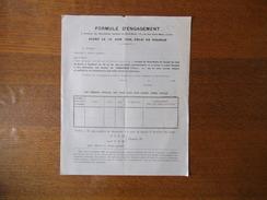 SOCIETE DU STUD-BOOK DU CHEVAL DE TRAIT DU NORD A CAMBRAI FORMULE D'ENGAGEMENT AVANT LE 10 JUIN 1928 - Historische Dokumente