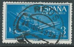 1955-56 SPAGNA POSTA AEREA USATO QUADRIMOTORE 3 P - R11-6 - Usati