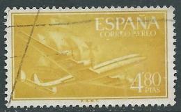 1955-56 SPAGNA POSTA AEREA USATO QUADRIMOTORE 4,80 P - R11-6 - Usati