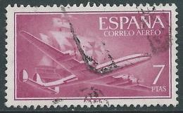 1955-56 SPAGNA POSTA AEREA USATO QUADRIMOTORE 7 P - R11-6 - Usati