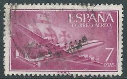 1955-56 SPAGNA POSTA AEREA USATO QUADRIMOTORE 7 P - R11-7 - Usati
