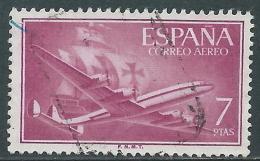 1955-56 SPAGNA POSTA AEREA USATO QUADRIMOTORE 7 P - R11-8 - Usati