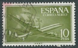 1955-56 SPAGNA POSTA AEREA USATO QUADRIMOTORE 10 P - R11-6 - Usati