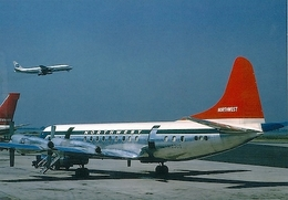 Aviation Postcard-529 NORTHWEST ORIENT  L-188 Electra - 1946-....: Moderne