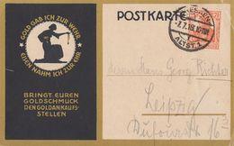 DR Werbekarte Gold Gab Ich Zur Wehr EF Minr.99 Dresden 7.7.18 - Deutschland