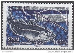 Saint-Pierre & Miquelon 2010 Yvert 981 Neuf ** Cote (2015) 1.30 Euro Morue - Neufs
