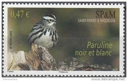 Saint-Pierre & Miquelon 2010 Yvert 972 Neuf ** Cote (2015) 2.00 Euro Paruline Noir Et Blanc - Neufs
