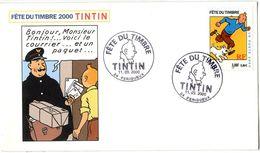 TINTIN   BONJOUR MONSIEUR TINTIN     FETE DU TIMBRE  PERIGUEUX  2000 - Hergé