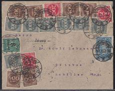 DR Brief Mif Minr.253,3x 269,6x 271,7x 273,278 Charlottenburg 28.8.23 Gel. Nach Cottbus - Deutschland
