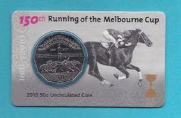 Australia 50 Cents 2010 150th Running Of The Melbourne Cup UNC Horses - Australia