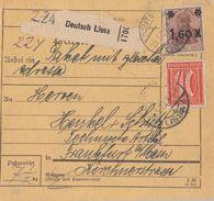 DR Paketkarte Mif Minr.11x 154,182 Deutsch Lissa 23.5.22 - Deutschland