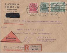 DR R-NN-Brief Mif Minr.85II,86II,113 Wurzen 4.8.20 Seltene Portostufe - Deutschland